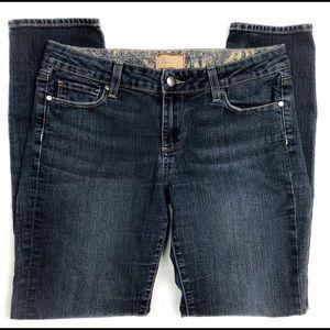 PAIGE Jeans - Paige | Peg Skinny Ankle Mid Rise Dark Wash A03